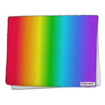"Vertical Rainbow Gradient 11""x18"" Dish Fingertip Towel All Over Print by TooLoud"