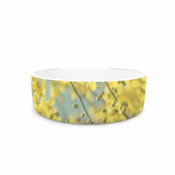 "Sylvia Coomes ""Yellow Blooms"" Yellow Blue Pet Bowl"