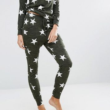 New Look Star Print Pajama Jogger at asos.com