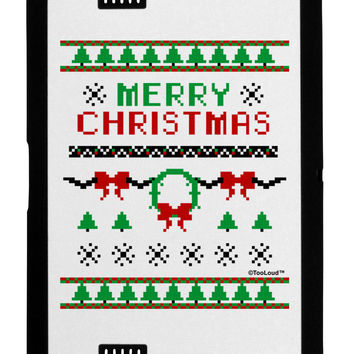 Merry Christmas Ugly Christmas Sweater Black Jazz Kindle Fire HD Cover