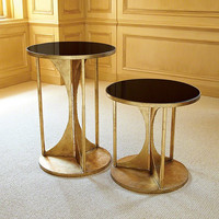 Global Views Hourglass Table-Antique Gold-Sm - Global Views 8-81673