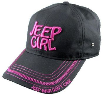 ONETOW Jeep Girl Black/Pink Cap