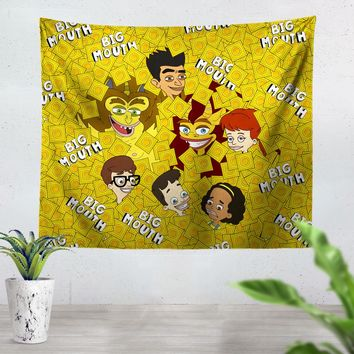 Big Mouth Collage Tapestry