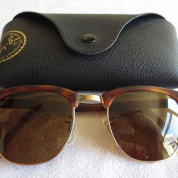 Ray Ban Bausch & Lomb vintage Clubmaster ll sunglasses. W 1117.