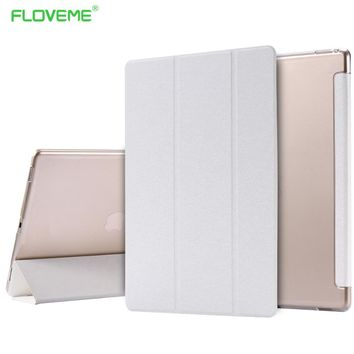 FLOVEME 2017 Silk Leather Case For iPad Mini 4 1 2 3 Smart Case For iPad mini 1 2 3 4 Stand Tablet Protect Back Cover Capa