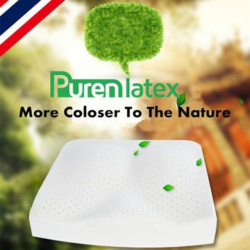 PurenLatex 40*40*7 Natural Latex Seat Cushion Pad Soft Memory Rebound Chair Hip Pillow Mats Breathable Tailbone Coccyx Protect