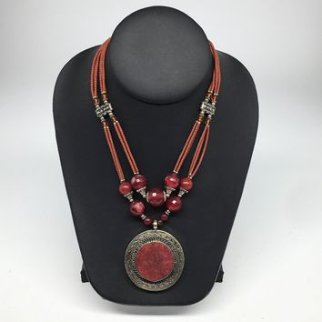 Turkmen Necklace Afghan Antique Tribal Fashion Multi Strand Beaded Necklace S137
