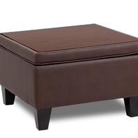 Boss Bomber Brown Reception Sectional Ottoman BRS14O-BB