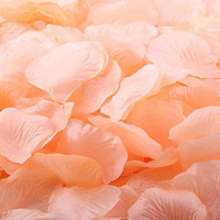 CO-RODE Wedding Decoration Silk Rose Petals Artificial Flower Pack of 4000 -Peach Color