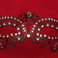 Sexy Venetian Laser Cut Black Masquerade Party Mask Sparkling by Kayso International