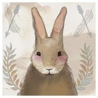 Woodland Bunny Creature Printed Canvas 15 x 15 : Target