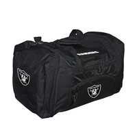 Oakland Raiders NFL Roadblock Duffle Bag (Black)