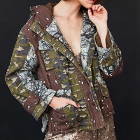 BDG Jigsaw Patchwork Camo Utility Jacket - Urban Outfitters