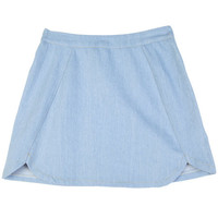 Light Blue Mini Skirt with Slits | FashionShop【STYLENANDA】