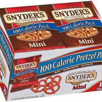 Snyder's of Hanover 100 Calorie Packs Mini Pretzels, 10-Count Packages (Pack of 6)