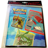 Ultra-Pro 4-Pocket Pokemon Card Binder/Portfolio ft. Rayquaza, Dragonite and other Dragon-Type Monsters! (Album Holds 48-80 Cards)