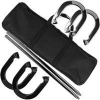 Horseshoe Set, Black/Silver, Outdoor Games & Equipment