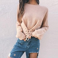 Knit Tops Sweater [62982914073]
