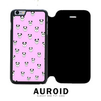 Panda Pink iPhone 6S Plus Flip Case Auroid