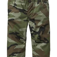 Lined pull-on camo pants