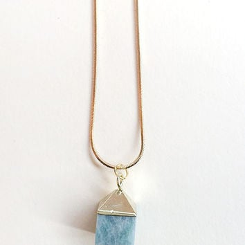 Amazonite Cube Necklace by The Little Deer