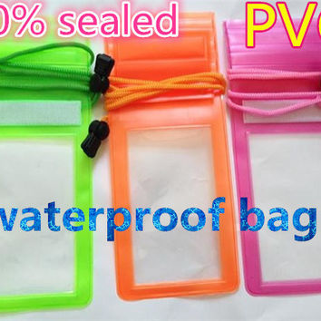 Fashion Universal Sealed Waterproof Durable Water Proof Pouch With Lanyard Phone Cover Case For iPhone For iPod Money EC244