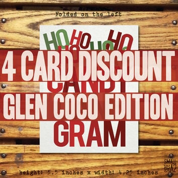Mean Girls Candy Cane Gram - Glen Coco 4-pack - Mean Girls Christmas Card - Holiday Card - Glen Coco Card - Custom Card