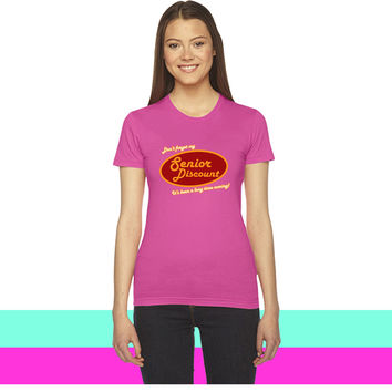 Don't Forget My Senior Discount women T-shirt
