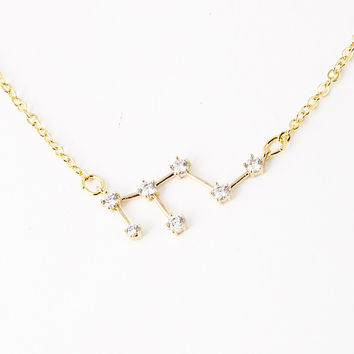 Only 2 left! Leo Constellation Zodiac Necklace (07/23-08/21) - As seen in Real Simple & People Style Watch Magazines