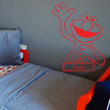 Elmo Sticker Elmo decal Elmo Children's room Wall Art Decal Stickers tr653