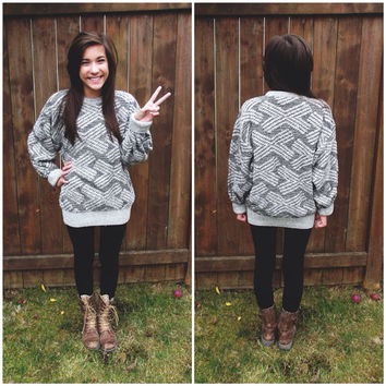The Xx Inspired Vintage Sweater by PeaceLoveStuds on Etsy