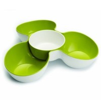 Joseph Joseph Triple Dish Set, White and Green