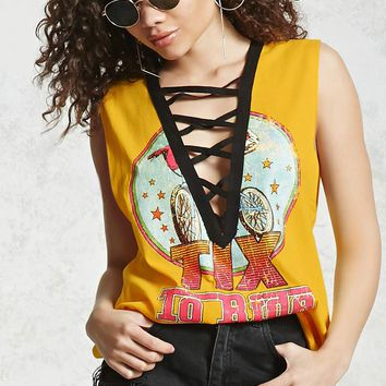 Strappy Graphic Muscle Tee