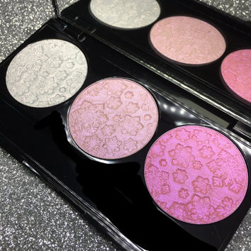 Snowflake Collection TRIO Pressed Eye & Face Highlighter Palette