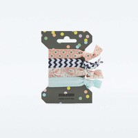 Patterned Elastic Hair Band Four-Pack - Urban Outfitters