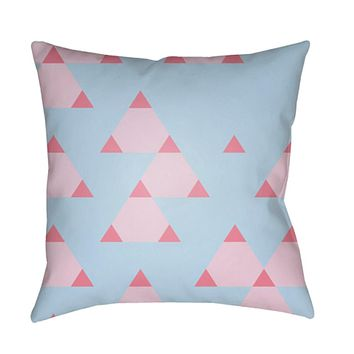 Scandanavian Pillow Cover - Bright Pink, Pale Pink, Aqua - SN011