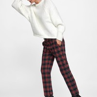 STRAIGHT FIT PLAID PANTS DETAILS