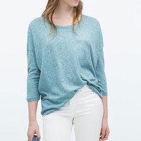 T-SHIRT WITH BACK SEAMS