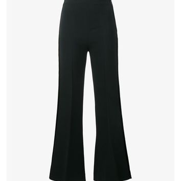 Connor Velvet Trimmed Cropped Trousers - ROLAND MOURET