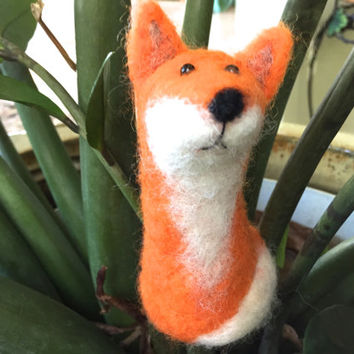 Needle felted Fox needle felted animal felting fox red fox felting fox felt fox needle felt woodland animal fox sculpture wool fox ornament