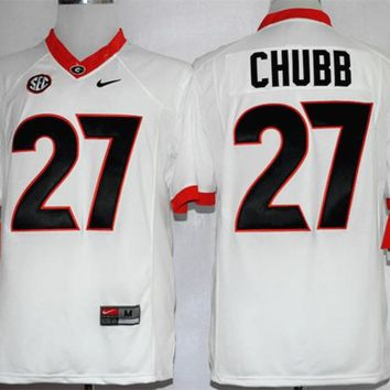 NIKE Georgia Bulldogs Nick Chubb 27 CollegeIce Hockey Limited Jerseys