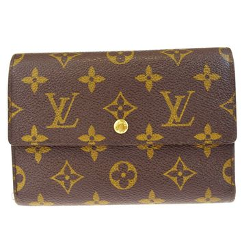Auth LOUIS VUITTON Tresor Trifold Wallet Purse Monogram Leather M61202 09BA342
