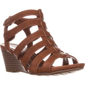 Cliffs by White Mountain Vivaldi Gladiator Wedges, Tan, 6.5 US