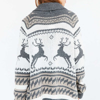 BDG Jackson Patterned Shawl-Neck Cardigan - Urban Outfitters