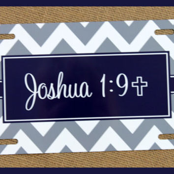 License Plate Car Tag Personalized Monogrammed Car Accessories Mobile Accessories Gift Ideas For Her Travel Sweet 16 Home and Living Chevron