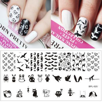 Animal Theme Nail Art Stamping Template Image Plate BORN PRETTY Stamp Plates for Nails BP-L025 12.5 x 6.5cm