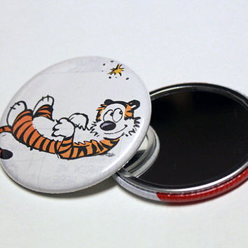 "Recycled Hobbes Comic Book 2.25"" Pocket Mirror - Button Mirror"