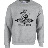 house targaryen game of thrones crewneck sweatshirt