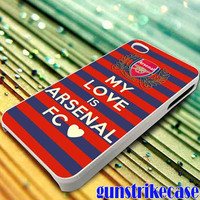 arsenal patterns football club for iPhone, iPod, Samsung Galaxy, HTC One, Nexus **
