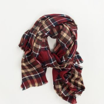 Bonnie Red Plaid Scarf